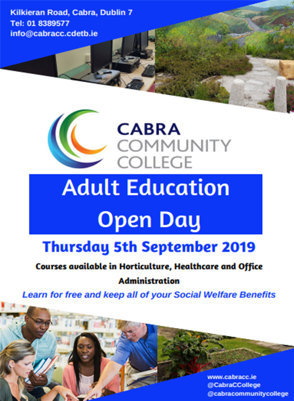 Adult Education Open Day Thurs 5th Sept