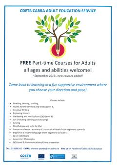 Free Part-time Courses for Adults