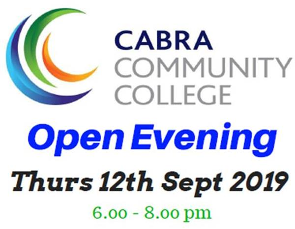 Second Level Open Evening Thursday 12th September 2019
