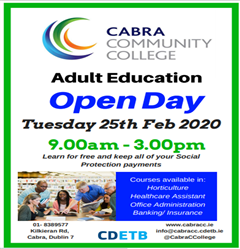 Adult Education Open Day Tues 25th Feb 2020