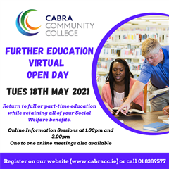 Adult Education Virtual Open Day 18th May